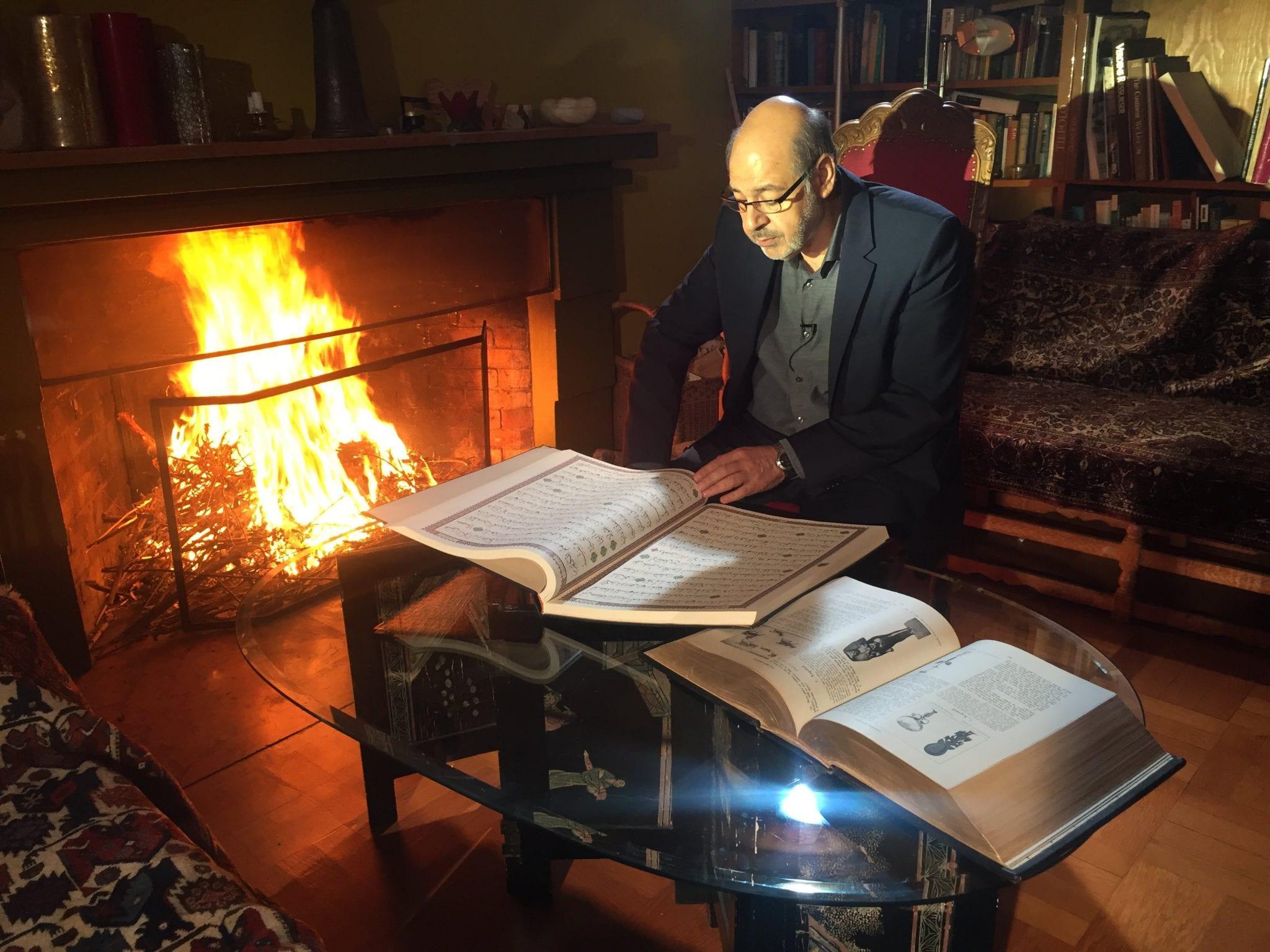Walid al-Kubaisi i Herland Report opptak. Foto: Herland Report.