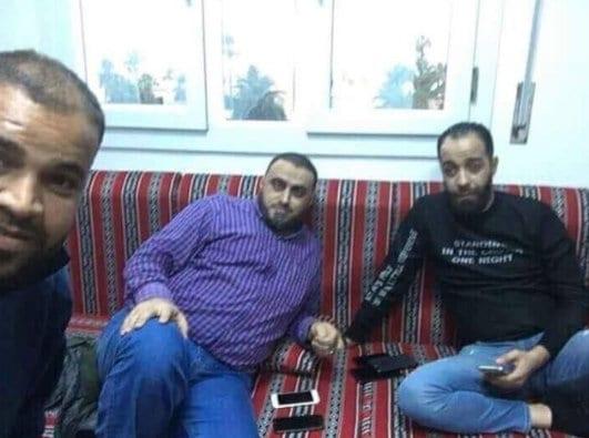 زعيم طرابلس واء الثورة، أمراء الحرب الليبي هيثم ناجوري وبلحاج بدعم أمراء الحرب هاشم Birshr الجماعي. ليبيا.
