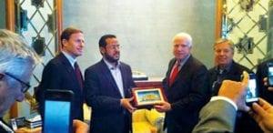 ة الجماعة الإسلامية الليبية المقاتلة، عبد الحكيم بلحاج تم الانتهاء جائزة بعد الانقلاب العسكري المدعوم من حلف شمال الاطلسي في ليبيا، 2011.