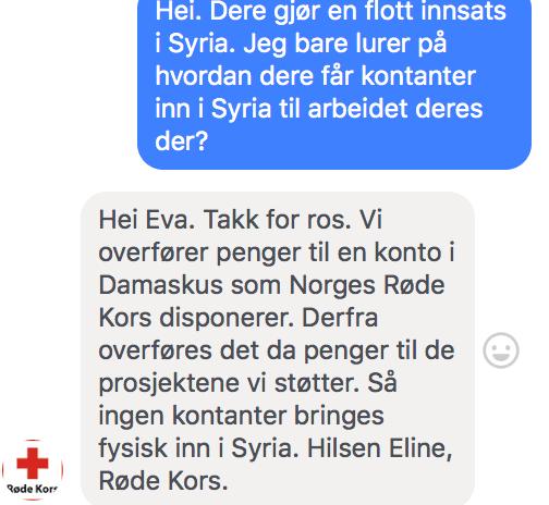 Facebook sakset fra Thomassens kommunikasjon med Leger Uten Grenser