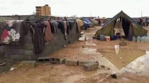 Photo from the current Tawhargha crisis in Libya, February 2018. Tawergha tribe is attacked.