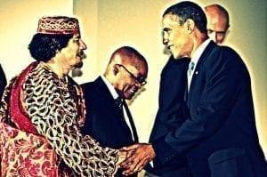 Gaddafi and Obama Telegraph Herland Report