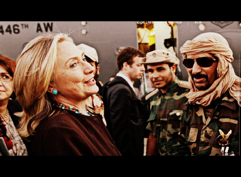 Hillary Clinton with friends in Libya war 2011 Herland Report