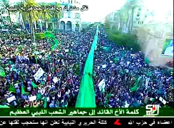 Million marched for Gaddafi tripoli 2011