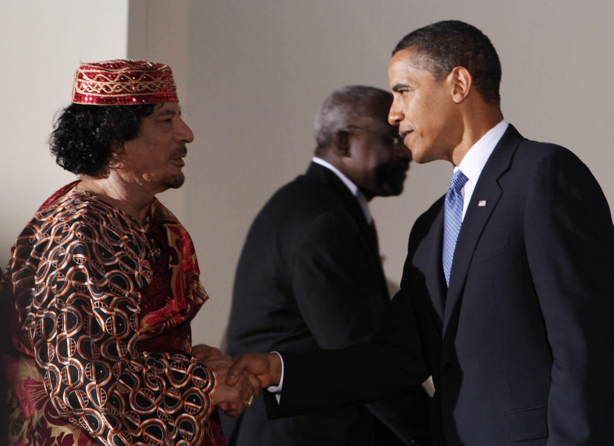 Gaddafi Obama UN meeting