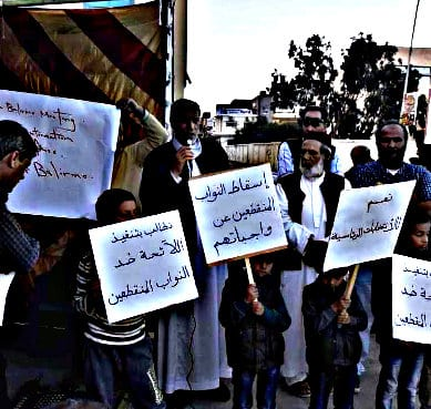 Libya demonstrations against Palermo Conference Let Libya decide fate of Libya