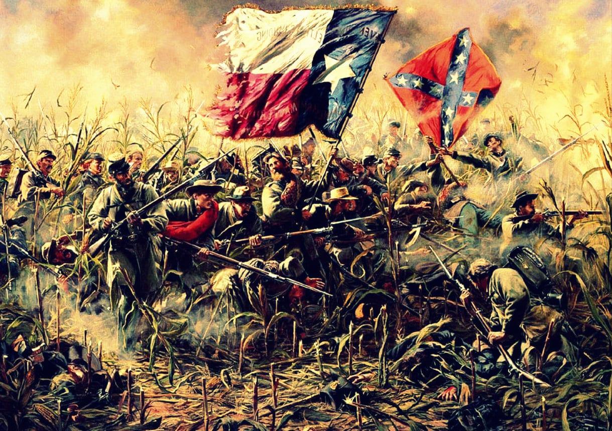 America Civil War painting