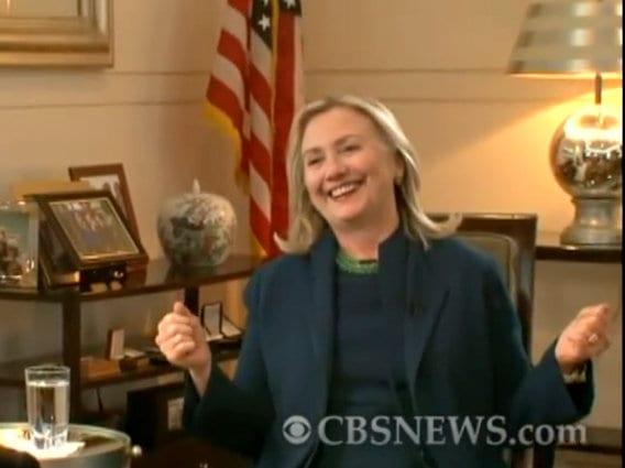 Hillary Clinton notorious laughter Gaddafi dead