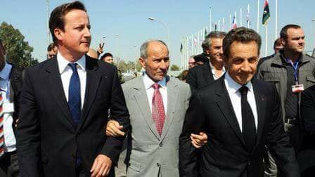 Sarkozy, Cameron and Abdul Jalil. Getty.