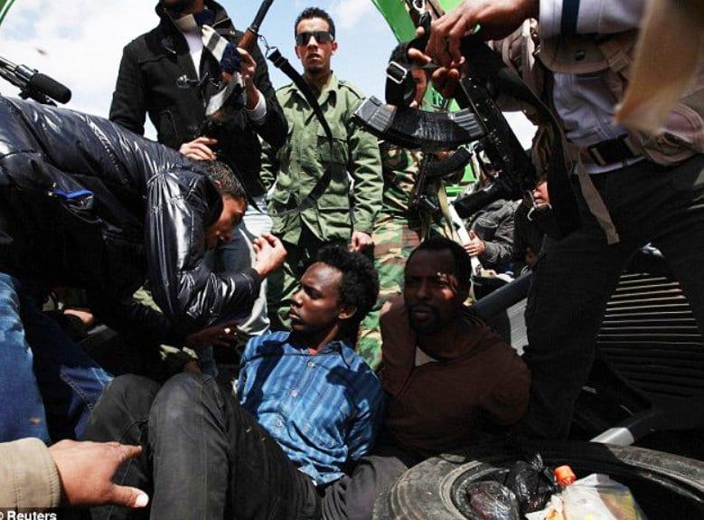 Libya war black suffering Local How to create Revolution Serbia, Syria: