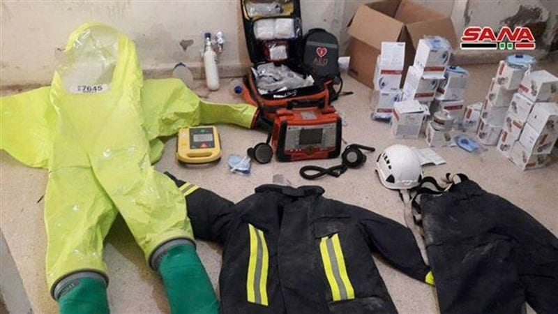 Syrian army again finds lots of Western equipment, now German equipment in White Helmets' field hospital, Pars News