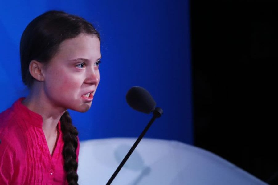 Greta Thunberg public child abuse Newsweek Herland Report