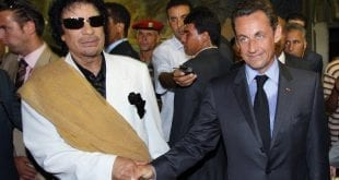 Gaddafi Sarkozy AFP Herland Report Media lies about Libya War