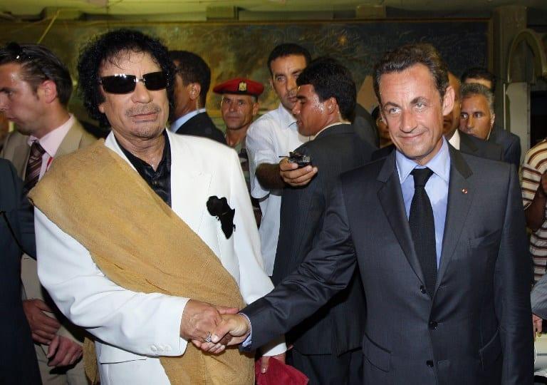 Gaddafi Sarkozy AFP Herland Report Media lies about Libya War