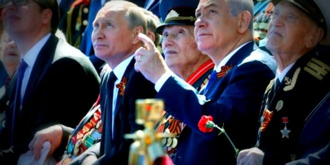Putin Netanyahu moscow military parade 2018 israel Russia good relations Cyptrus Mail