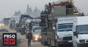 NORWAC humanitær hjelp blir politisk part i krig: Idlib-crisis-Turkey-Syria-PBS