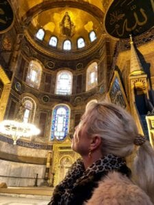 Hanne Nabintu Herland Hagia Sophia, Constantinople, Istanbul, Turkey, Orthodox Christianity, Herland Report , Christian pulpit in background.