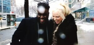 Hanne Nabintu Herland sharing a good laugh with Woodley Auguste in Washington DC.